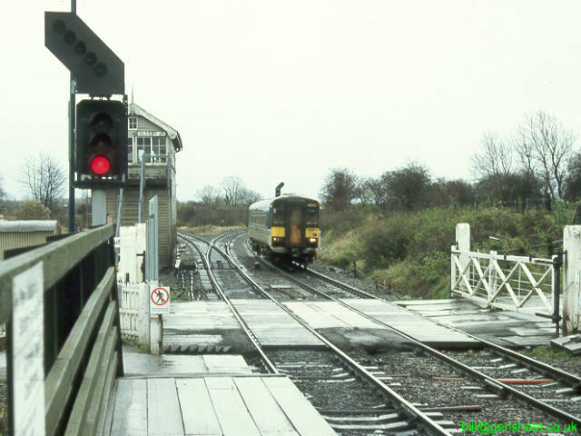 Class 153 approaches Ulceby from Barnetby