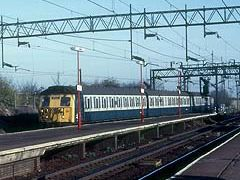 308144 arriving at Witham from Braintreee in 1986