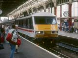 A new 90009 at Preston with a northbound train, September 1988