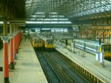 Manchester Piccadilly in 1987 with class 303 & 142 units present
