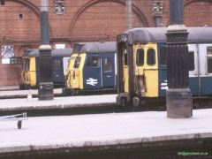A 312, a 308 and 309623 in the old east trainshed at Liverpool St