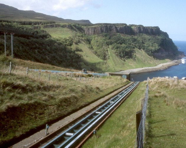 Access railway to Bearreraig power station